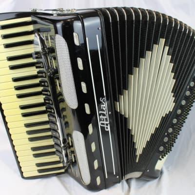 4249 - Black Atlas Piano Accordion LMMH 41 120 for sale