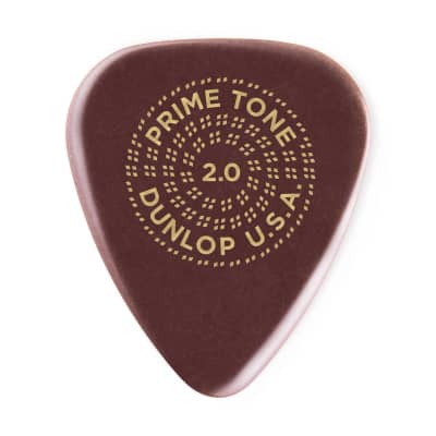 Dunlop 511P2.0 Primetone Standard Sculpted Plectra Smooth Guitar Picks 2.0mm Players Pack of 3