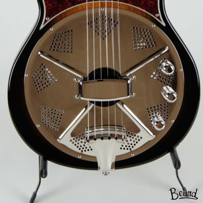 Beard Resoluxe Solidbody Resonator Guitar in Yellow Burst for sale