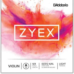 D'Addario DZ312 4/4L Zyex Violin Single A String - 4/4 Scale, Light Tension
