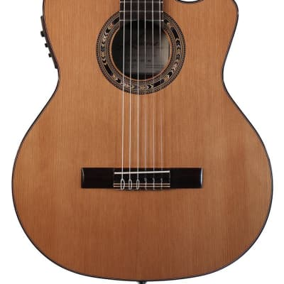 Kremona Performer Series Fiesta F65CW TLR Solid Cedar Top Nylon String Classical Acoustic Electric Guitar With Bag for sale