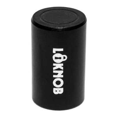 """NEW LOKNOB FUGGEDABOUDIT TOUR CAP 1/2"""" OD black for boss type pedals with m7 threaded pots 13127-b"""