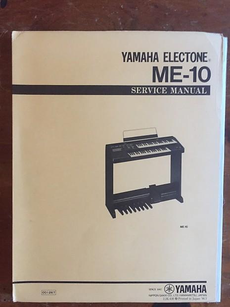 Yamaha Electone ME-10 Service Manual & schematics 1986