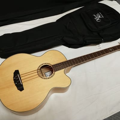 MICHAEL KELLY Firefly 4-string acoustic electric BASS guitar -MKFF4N Natural- blem w/ GIG BAG for sale