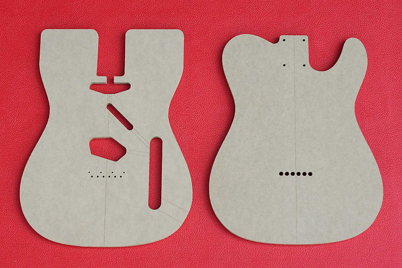 Fender Telecaster Guitar Router Templates for Bound Top Body | Reverb