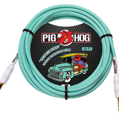 "Pig Hog Cables ""Seafoam Green"" Instrument Cable, 20ft"