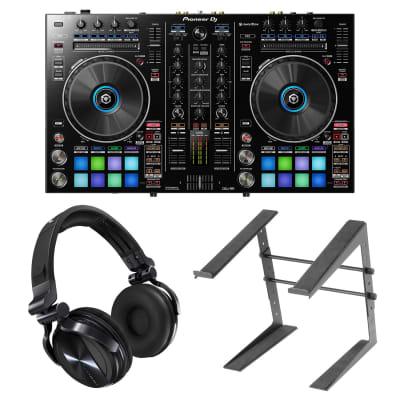 Pioneer DDJ-RR DJ Controller w/ HDJ-1500 Headphones & Laptop Stand