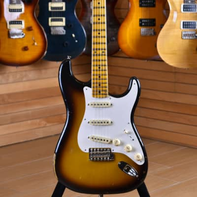 Fender Custom Shop Stratocaster '56 Heavy Relic Maple Neck Faded Aged 2 Color Sunburst for sale