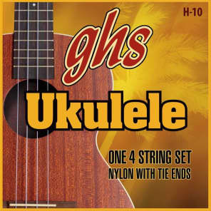 GHS H-10 Soprano/Concert Ukulele Strings with Tie Ends