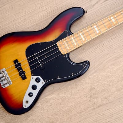 1994 Fender Jazz Bass '75 Vintage Reissue Sunburst w/ Blocks & Binding, Japan for sale