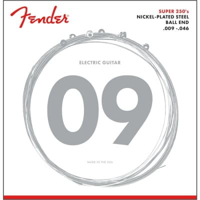 Fender Super 250 Nickel-Plated Steel Guitar Strings - Ball End, 9-46 for sale