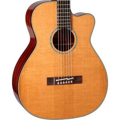 Takamine EF740FS TT 6 Strings Acoustic Electric Guitar with Hard Case, Thermal Spruce Top- Natural