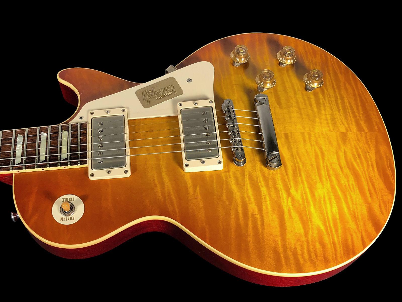 2014 Gibson Les Paul 1959 Custom Shop 59 Historic R9 VOS ~ Sunrise Tea  Burst ! ONLY 8 LBS!