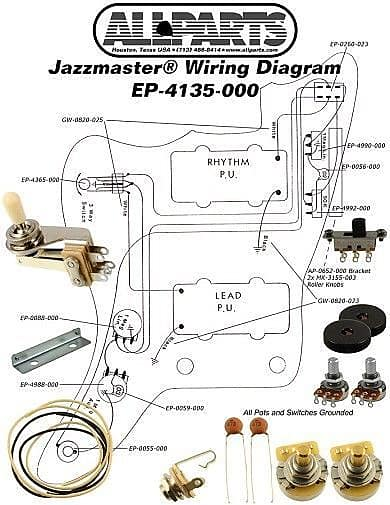 new jazzmaster pots wire & wiring kit, switches for | reverb on fender  toronado wiring