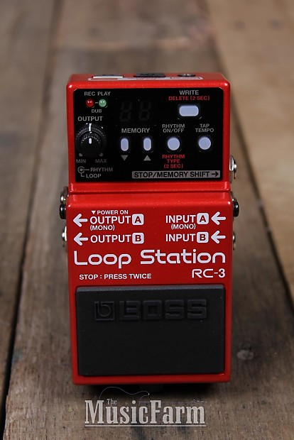 boss rc 3 loop station electric guitar effects looper pedal reverb. Black Bedroom Furniture Sets. Home Design Ideas