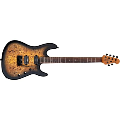 Sterling by Music Man Richardson6 Jason Richardson Guitar, Nat Poplar Burl Burst for sale