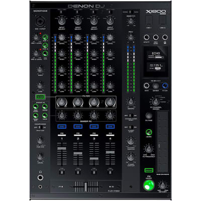 Denon DJ X1800 PRIME 4-Channel Club Mixer Regular