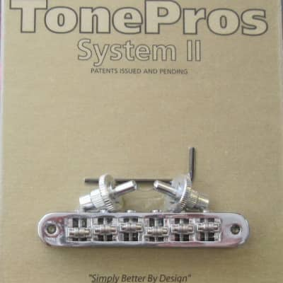 TonePros TP6R-C Standard Tuneomatic Bridge with Roller Saddles Chrome