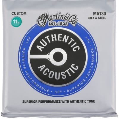 Martin Authentic Acoustic Silk & Steel Strings MA130