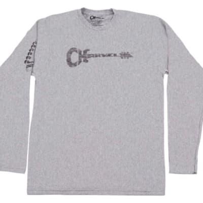 Charvel Headstock XL Long Sleeve T Shirt, Gray