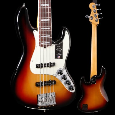 Fender American Ultra Jazz Bass V, Rosewood Fb, Ultraburst 465 10lbs 0oz for sale