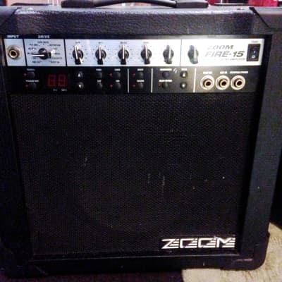 ZOOM Fire 15 Modeling Amp - good used with wear Guitar Combo practice amplifier for sale