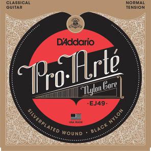 D'Addario EJ49 Pro-Arte Black Nylon Classical Guitar Strings Normal Tension