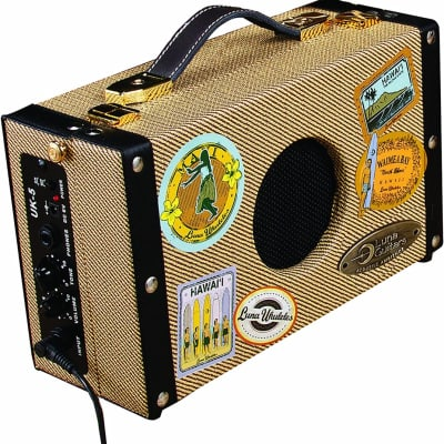 Luna Guitars 5-Watt Acoustic Ambience Portable Suitcase Guitar Amplifier UK-5 for sale