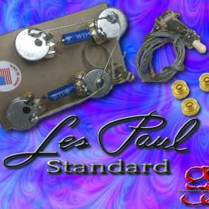 gibson les paul wiring harness long shaft paper in oil