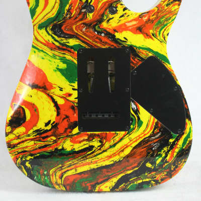 Custom Swirl Painted and Upgraded Ibanez RG 120 Electric