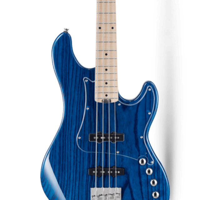 Cort GB74JJ Aqua Blue Bass, Swamp Ash Body, Maple Neck, J-style Single-coil Pickups, New image