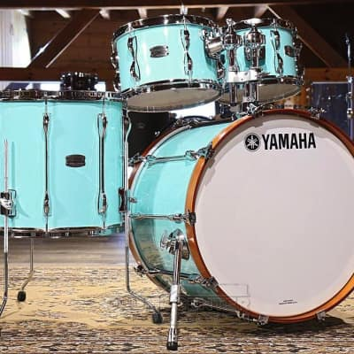 Yamaha Recording Custom 4pc Rock Drum Set Surf Green