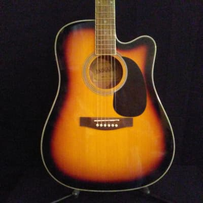 Indiana I-TB2VB Thin Body Acoustic/Electric Vintage Burst Guitar for sale