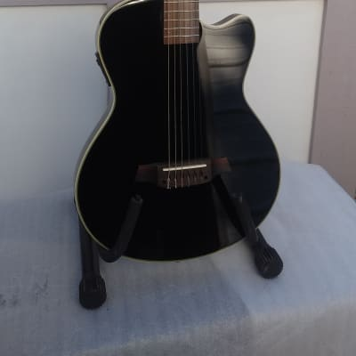 NEW! Angel Lopez Chet Atkins Style Black Finish Solid Body Classical Electric Guitar-Amazing Value! for sale