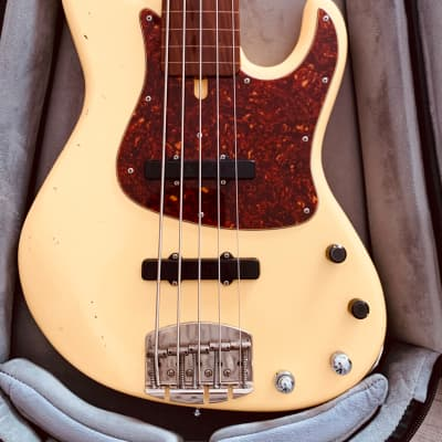 Celinder Jazz Bass  Olympic white-butterscotch for sale