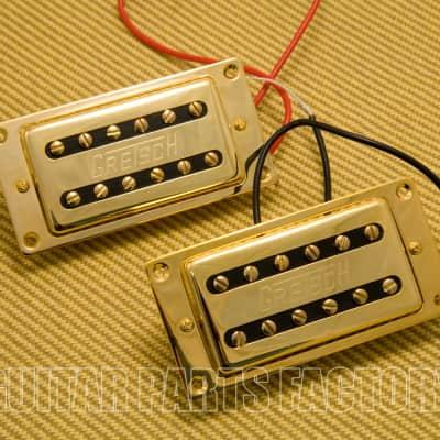 006-9714-000 Gretsch Elliot Easton G5570 Gold Humbucking Pickups Set With Mounting Rings