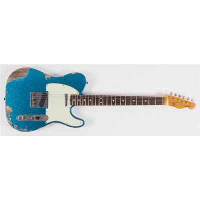 Fender Telecaster Custom Shop Limited Edition 63 Heavy Relic Super Faded Aged Blue Sparkle Second Hand for sale