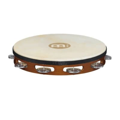 Meinl TAH1A-AB Traditional Goat-Skin Tambourine with Aluminum Jingles
