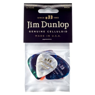 Dunlop PVP106 Celluloid Guitar Pick Variety Pack, Medium