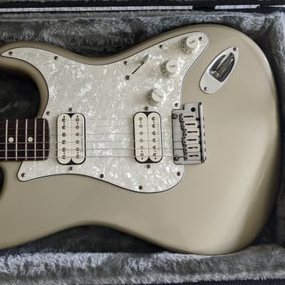 Fender American Big Apple Double Fat Stratocaster 2001 Inca Silver w/ Case for sale