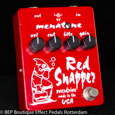 Menatone Red Snapper Transparent Overdrive 2004 s/n MRS-199 Hand signed by Brian Mena made in USA