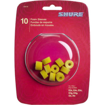 Shure EAYLF1-10 Foam Sleeves for Shure Earphones, 5 Pair, Yellow