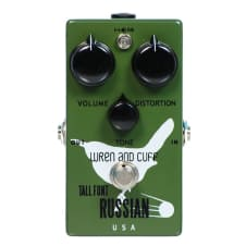 Wren and Cuff Tall Font Russian Fuzz Pedal