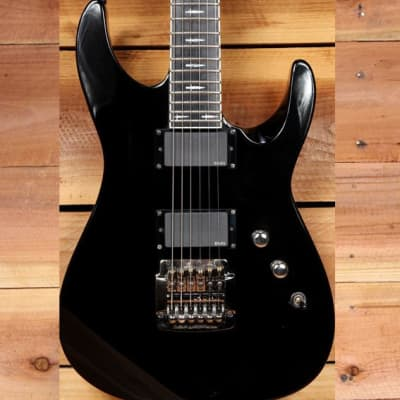 ESP JEFF HANNEMAN LTD JH600 Slayer Signature Axe Black w/ Dagger Inlays 10518 for sale