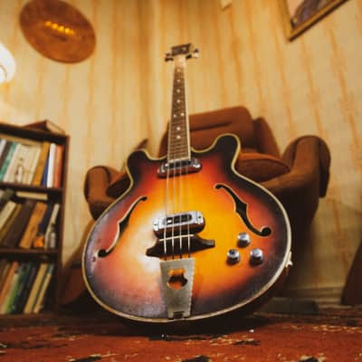 MUSIMA 1657B RARE Vintage Semi-acoustic Bass Guitar GDR DDR Germany USSR EB for sale