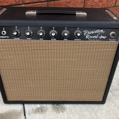 Fender Princeton Reverb 12-Watt Vintage Blackface Guitar Combo Amp for sale