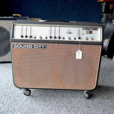 Sound City Concord Tube Guitar Combo Amp 1968 Black for sale