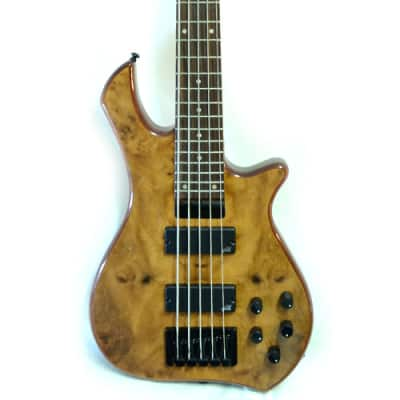 Zon Legacy Standard 5 String Electric Bass Guitar, Mahogany Body Walnut Top W/Bag - LSB5 for sale
