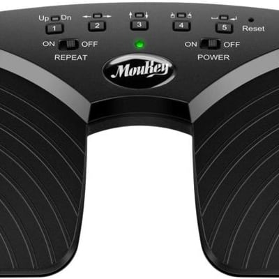 Wireless Page Turner Pedal for Tablets ipad Rechargeable Turn Sheets with an ease
