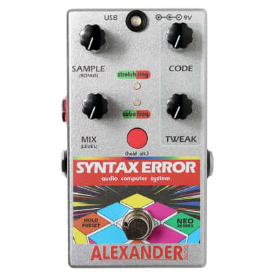 Alexander Pedals Neo Series Syntax Error Glitch MIDI Guitar Effects Pedal
